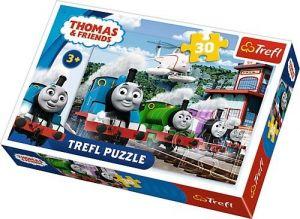 Trefl puzzle  30 dílků  - Mašinka Tomáš   - 18230
