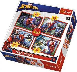 Trefl Puzzle 34293  Spiderman  4v1 35 48 54 70 dílků