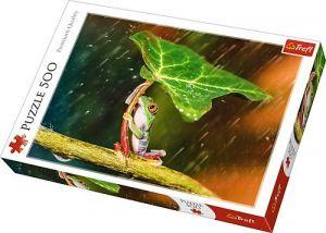 TREFL Puzzle  500 dílků -  Zelený deštník   37288