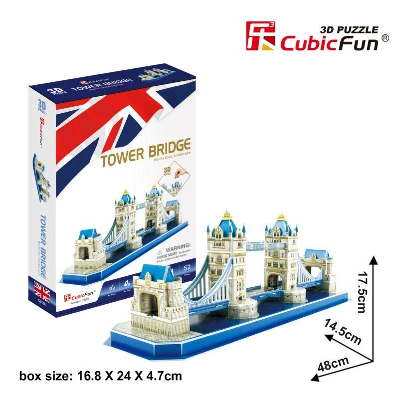 3 D Puzzle CubicFun - Tower Bridge 52 dílků Cubic Fun