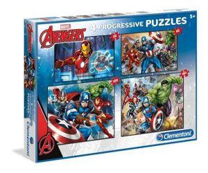 Puzzle Clementoni  - 20, 60, 100 a 180 dílků  - Avengers  07722