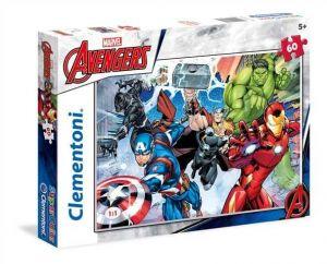 Puzzle Clementoni - 60 dílků  -  Avengers    26979