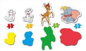 Clementoni Puzzle pro nejmenší - My first 4v1 - Disney - zvířecí kamarádi 20806