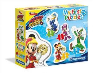 Clementoni Puzzle pro nejmenší - My first  4v1  - Mickey Mouse  závodníci  20807
