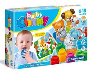 Clemmy baby kostičky s knížkou domácí zvířata