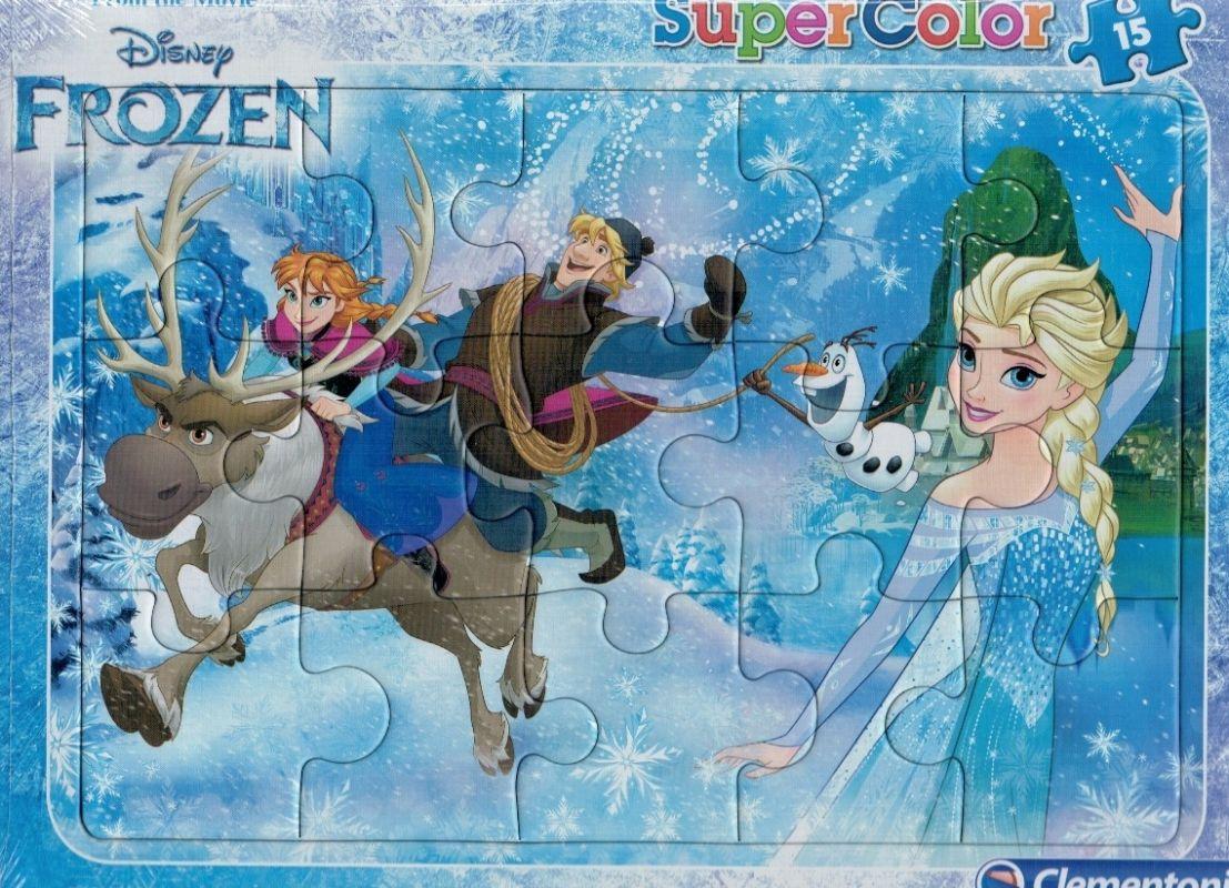 Deskové puzzle Clementoni - 15 dílků - Frozen - 22226d