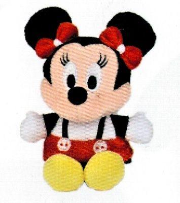 Disney plyš - 17 cm plyšová Minnie - bílo-červené šatičky