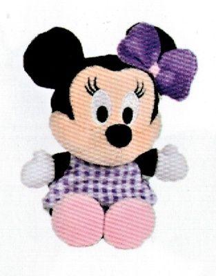 Disney plyš - 17 cm plyšová Minnie - fialové šatičky