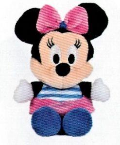 Disney plyš - 17 cm plyšová Minnie - modro-růžové   šatičky