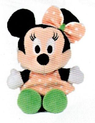 Disney plyš - 17 cm plyšová Minnie - oranžové šatičky