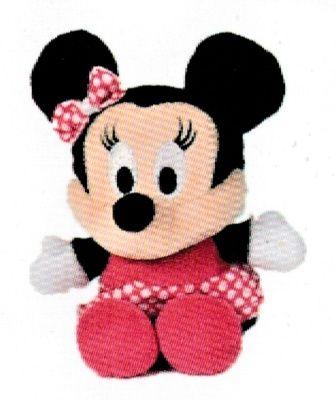 Disney plyš - 17 cm plyšová Minnie - růžové šatičky