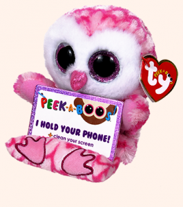 Meteor TY - Peek a Boos - držák na mobil - růžová sova Milly 00009 TY Inc. ( Meteor )