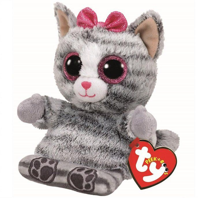Meteor TY - Peek a Boos - držák na mobil - šedá kočka Molly 00016 TY Inc. ( Meteor )