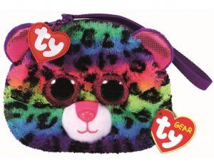 Meteor TY - plyšová kabelka do ruky   - barevný leopard  Dotty   95203