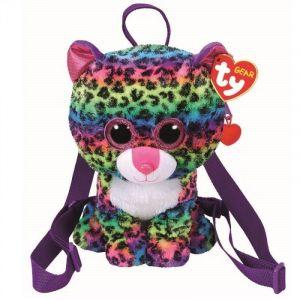 Meteor TY - plyšový batoh - barevný leopard Dotty   95004
