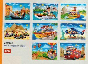 puzzle Castorland 54 dílků mini - cestování  assort 8 druhů