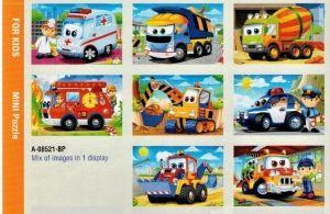 puzzle Castorland 54 dílků mini - pracovní vozidla  assort 8 druhů
