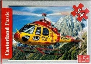 puzzle Castorland 54 dílků mini - záchranářská letadla - vrtulník
