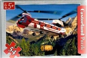 puzzle Castorland 54 dílků mini - záchranářská letadla - helikoptéra