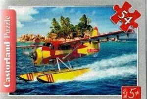 puzzle Castorland 54 dílků mini - záchranářská letadla - hydroplán
