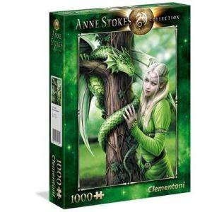puzzle Clementoni 1000 dílků - Anne  Stokes - Spřízněné duše - Kindred Spirits  39463
