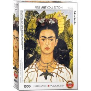 Puzzle Clementoni 1000 dílků - Frida Kahlo - Autoportrét  39430