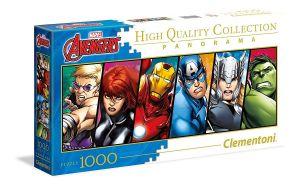 Puzzle Clementoni 1000 dílků  panorama - Avengers   39442