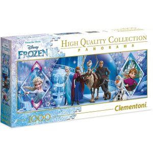 Puzzle Clementoni 1000 dílků  panorama - Frozen - Ledové království    39447