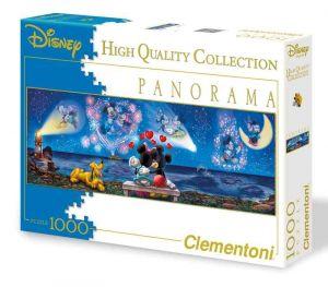 Puzzle Clementoni 1000 dílků  panorama - Mickey & Minnie   39449