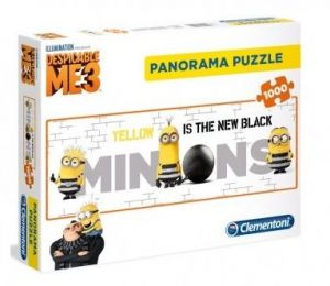 Puzzle Clementoni 1000 dílků  panorama - Minnions - Mimoni   39443