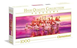 Puzzle Clementoni 1000 dílků  panorama - Tanec plameňáků   39427