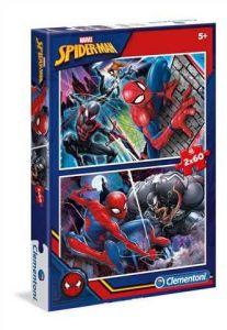 Puzzle Clementoni 2 x 60  dílků  - Spiderman    07137