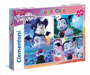 Puzzle Clementoni  - 3 x 48 dílků  - Vampirina    25229