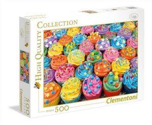 Puzzle Clementoni 500 dílků  - Barevné mufíny    35057