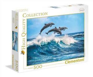 Puzzle Clementoni 500 dílků  - Delfíni    35055