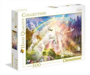 Puzzle Clementoni 500 dílků  - Jednorožci   35054