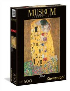 Puzzle Clementoni 500 dílků  Klimt - Polibek  35060