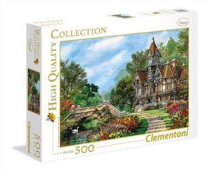 Puzzle Clementoni 500 dílků  Klimt - Starý dům u vody  35048