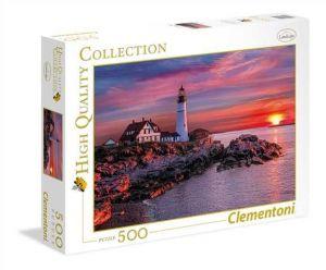 Puzzle Clementoni 500 dílků  - Maják za soumraku    35049
