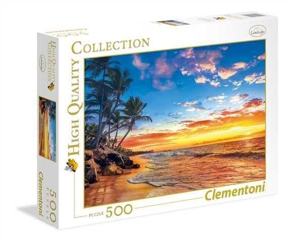 Puzzle Clementoni 500 dílků - Pláž v ráji 35058