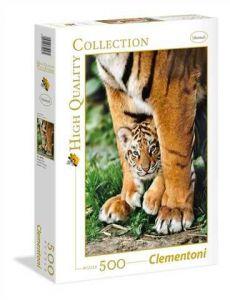 Puzzle Clementoni 500 dílků  - Tygřík mezi nohama    35046
