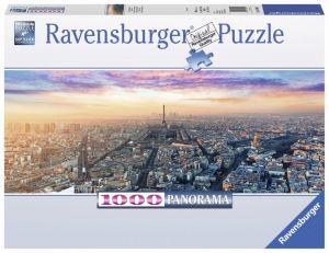 puzzle Ravensburger 1000 dílků  panorama -  Paříž za svítání -  150892