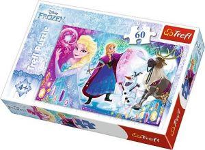 Puzzle Trefl 60 dílků  - Frozen - překvapení pro Elsu   17314