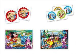 Super Kit puzzle Clementoni 2x30 dílků + Domino + Memos ( pexeso ) - Mickey 08217