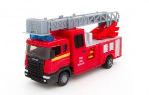 TEAMA - hasičské auto  2ass 1:48 - s žebříkem a plošinou