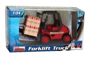TEAMA - vysokozdvižný vozík Forklift 50  3 ass.   1:24  -  červená   barva