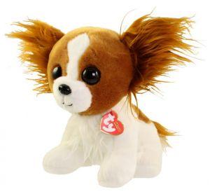 TY Beanie Boos - Barks - hnědobílý pejsek   96307  - 24 cm plyšák