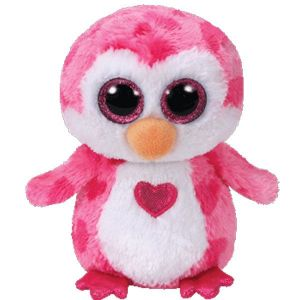 TY Beanie Boos - Juliet - růžový tučňák se srdcem    36865  - 15 cm plyšák