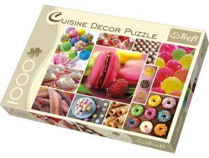 Puzzle Trefl 1000 dílků - Cukrovinky - koláž - Trefl CUISINE DECOR 10469
