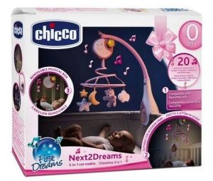 Chicco Kolotoč nad postýlku NEXT2DREAMS - růžový